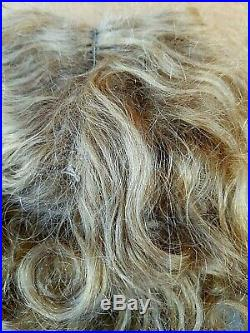 Antique VERY NICE Blonde Human Hair Wig For LGE GERMAN FRENCH Bisque Head Doll