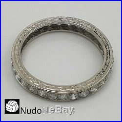 Antique Very Nice Art Deco Eternity Wedding Band Platinum Natural Diamonds C1920