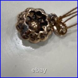 Antique Very Old 8K Yellow Gold Diamond & 2,10 Carat ULTRA NICE