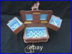 Antique Victorian Black Forest Carved Wood Stag Jewelry Box WithKey. Very Nice