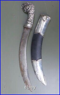 Antique and very nice quality dagger, yambiya, Borneo Indonesia no keris