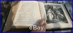 Antique c1875 Catholic family Bible Douay Rheims PAST RESTORATION very nice