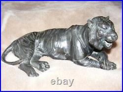 Antique chinese bronze tiger. Very rare. Collectable. Vintage. Oriental. Okimono. Nice