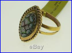 Antique/vintage 18k Gold Micro-mosaic Ring Very Nice Size 8.5 Best Offer
