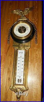 BEAUTIFUL 1800's VICTORIAN antique. Brass. DEPOSE 9938 EAGLE BAROMETER VERY NICE