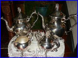 Birmingham Silver Co. Vintage 5 Pc. Coffee/tea Set, Very Nice