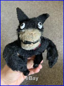 C 1900s Early Antique Farnell Mohair Felix The Cat Doll Very Nice All Posable