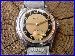 Certina Two tone dial with sub second Swedish Military typ watch in a Very Nice