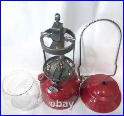 Coleman 200A Red 8/64 Cherry Single Mantle Vintage Lantern VERY Nice Vent -WORKS