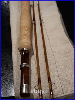Custom split bamboo fly rod. Very Nice. 7ft 6in. 4wt. Hand made 2pc