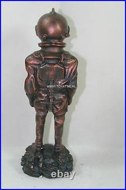 Deep sea diver statue with diving helmet, suit, diving shoes very nice display