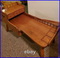 Ethan Allen Baumritter Vintage 1950 Maple Wood Cobblers Bench Table VERY NICE