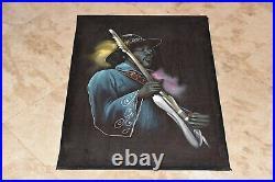 Extremely Rare JIMI HENDRIX Original 25 x 35 Inch VELVET PAINTING-Very Nice