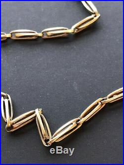 Fine Solid 14k Gold Pocket Watch Chain Antique And Very Nice