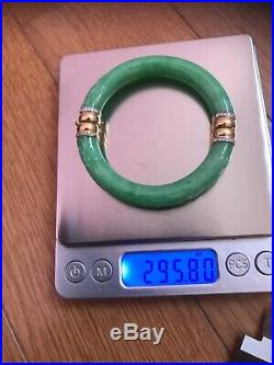 Grade A Jadeite Bangles, Antique, Very Nice, Guarantee Authentic, With Box