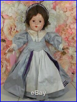 HISTORICAL DOLL Effanbee composition 14 PLYMOUTH COLONY rare very nice
