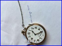 Hamilton Pocket Watch 21 jewel Runs Great Very Nice Hunter Case