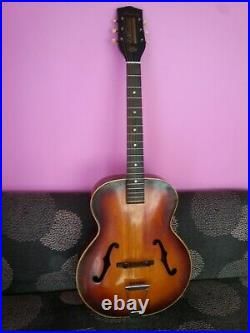 Harmony Broadway archtop guitar 1969 vintage USA neck reset done, very nice