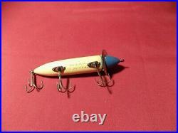 Heddon Vintage Heddon Dowagiac Surface Fishing Lure #200 Blue White VERY NICE