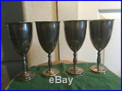 Juvento Lopez Reyes MID Century Sterling Silver Wine Goblets Set Of 4 Very Nice
