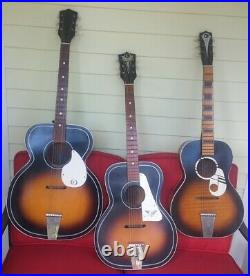KAY JUMBO acoustic guitar 1960s vintage USA K8160 BIG 17 very nice