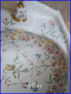 Kohler English Trellis Artists Edition Pedestal Sink And Faucet Very Nice