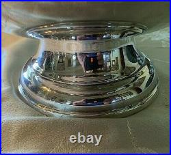 LARGE VINTAGE Silverplate Grape Punch Bowl & Ladle18 Diameter- VERY NICE