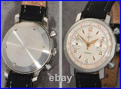 Large, Very Nice Vintage Valjoux 22 Chronograph With Screw Back + Round Pushers