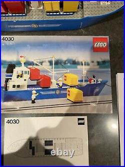 Lego Vintage Set 4030 Cargo Carrier Boat Ship City Very Nice Set
