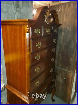 Lexington Highboy Dresser Solid Cherry Very Nice Condition