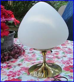 Mid Century Brass- Laurel Mushroom-Tulip Table Lamp by Bill Curry Very Nice