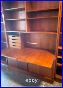 Mid Century Two Bookcases & Secretary by Poul Hundevad Denmark. Very nice LOOK
