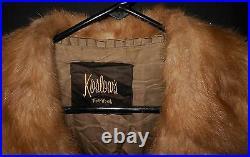Mink Fur Coat Koslows Fort Worth Vintage Very Nice Medium