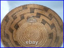 Native American PIMA Basket Bowl VERY NICE DESIGN. APPROX 4 T x 9 W