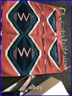 Old Antique Vtg Navajo Or Mexican Rug Blanket Native American Very Nice 74x45