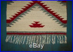 Old Antique Vtg Navajo Saddle Rug Blanket Native American Indian Very Nice Cond
