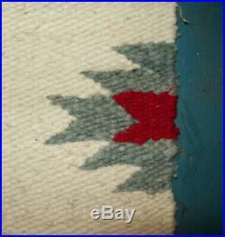 Old Antique Vtg Navajo Saddle Rug Blanket Native American Indian Very Nice Cond