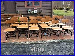 One Vintage TOLEDO Drafting Stool Seat Adjusts 14 To 18 Very Nice