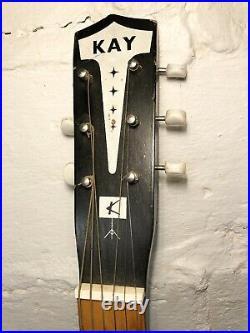Original KAY Parlor Acoustic Guitar 1960s Vintage Kay Note very nice