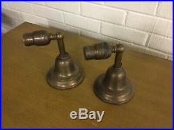 Pair Vintage Antique Brass Mission Craftsman Style Sconces Very Nice