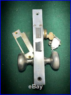 RUSSWIN #11224 ENTRY MORTISE LOCK SET VERY NICE withCYLINDER 7 7/8 FACE (12035)