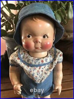 Rare 13 Puggy 1928-30 An American Character Doll by Petite. Very Nice Condition