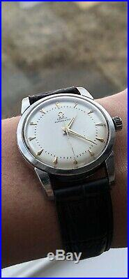 Rare And Very Nice Omega Bumper Automatic Watch Cal. 354 17j. 1950 Working Well