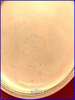 Rare Elgin B. W. Raymond Railroad Yellow Gold Filled 16 Size Case Very Nice