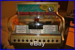 Rare Vintage Antique Williams Music Mite Jukebox withpedestal. Very Nice Condition