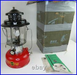 Red Sears Coleman Double Mantle 476.74060 Lantern 9/64, Very Nice Orginal Box