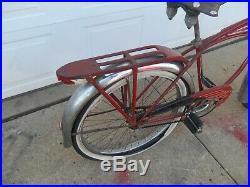 Schwinn Red Phantom Bike. Very Nice Old Antique Bike