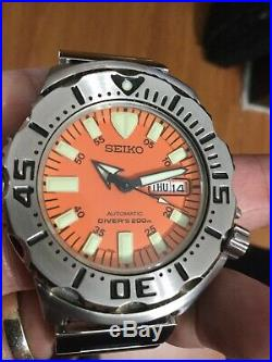Seiko Monster Orange Divers Watch 1st Generation Very Nice Pre-owned Condition