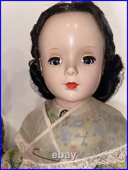 Set Of 4 Vintage Madame Alexander Little Women Hard Plastic Dolls 14 VERY NICE