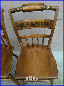 Set of 4 Vintage L. Hitchcock Stenciled Dining / Side Chairs VERY NICE, FASTSHIP